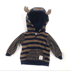 🎈2/$8🎈Just One You baby boy moose sweater